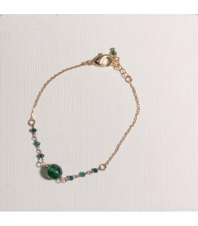 Bracelet Plaqué Or Perle Agate