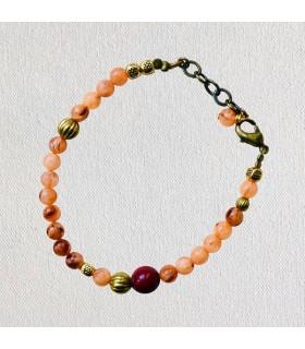 Bracelet femme Abricot