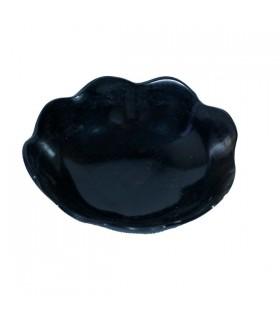 Petite coupelle fleur en corne de zébu Noir 1