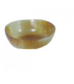 Coupe ronde en corne de zébu Miel