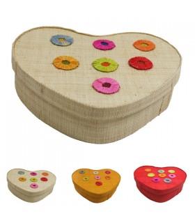 Boîte à bijoux cœur pastilles