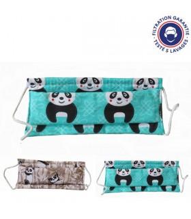Masque en tissu enfant Panda