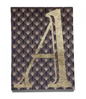 Carnet monogramme noir lettre A