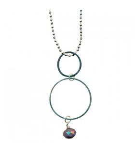 Sautoir métal 2 anneaux