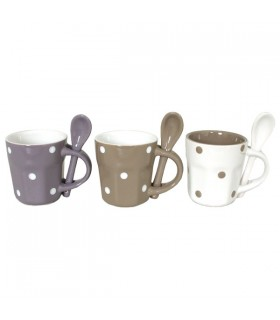 Tasses expresso Agathe, lot de 3