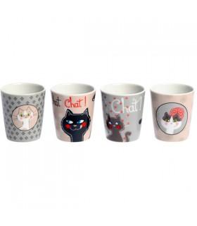 Gobelets en Céramique Chat
