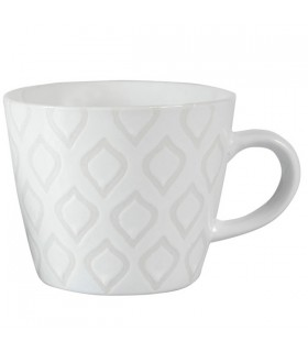 Tasse à Thé en Céramique Blanche Ice