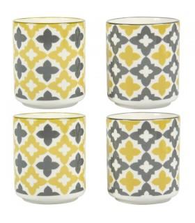 Set de 4 Gobelets en Porcelaine Grijio