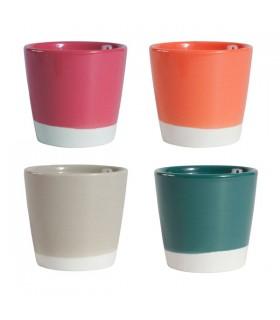 Coffret de 4 gobelets en Céramique Colorés