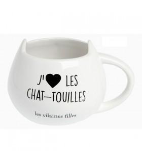 Tasse Petit Déjeuner J'adore les Chatouilles
