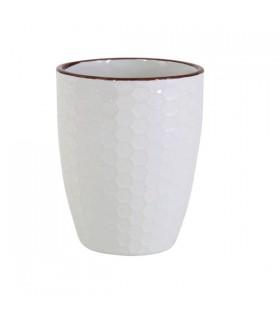 Gobelet en Céramique Blanc Nid d'Abeille
