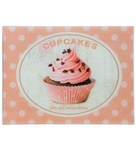 Planche à découper en verre Cupcakes