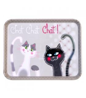 Plateau de service Chat Chat Chat