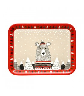 Plateau en Bambou Rectangulaire Ours on Ice