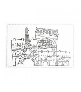 Sets de table Paris noir et Blanc