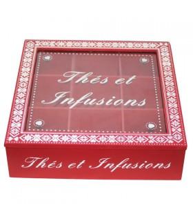 Boîte à Thés et Infusions Rouge 1