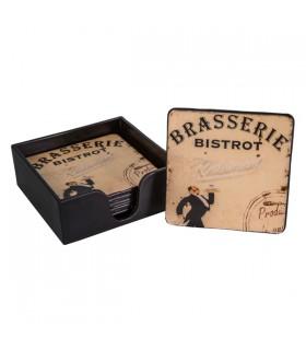 Dessous de Verre Brasserie, la boîte de 6