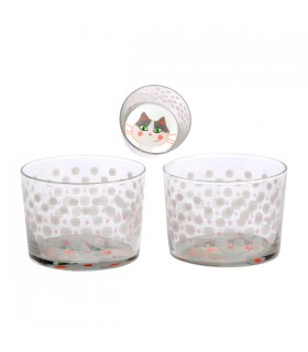 Verres Bodega Chat, le lot de 3