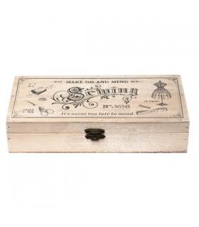 Boîte à Couture en bois Vintage 1
