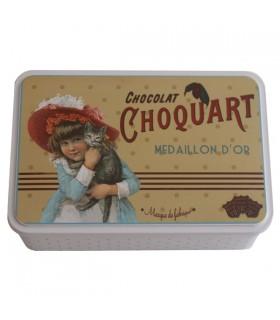 Boîte à Sucre en Métal Décor Chocolat 1