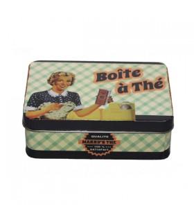 Boîte à Thé en Métal Vintage 1