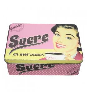 Boîte à Sucre en Métal Vintage 1