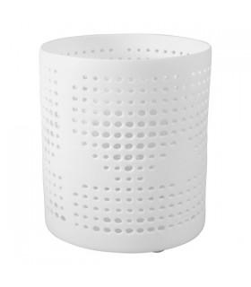 Photophore Porcelaine Ajourée Blanc Mat