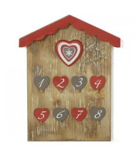 Accroche clés montagne cœurs