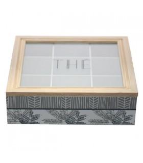 Boîte à Thé en Bois Fougères 1