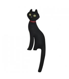 Accroche clé magnétique chat noir