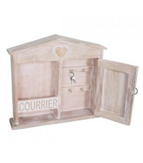 Boîte à Clés en Bois Courrier