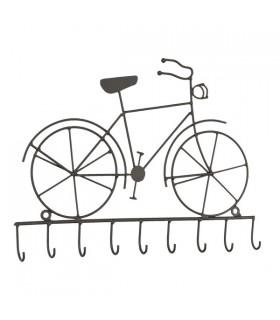 Porte-Clés Mural Vélo 9 Crochets
