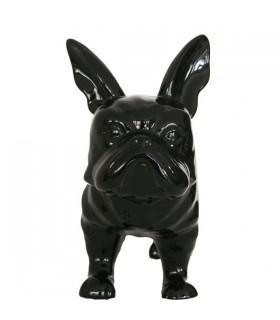 Bouledogue en céramique noir