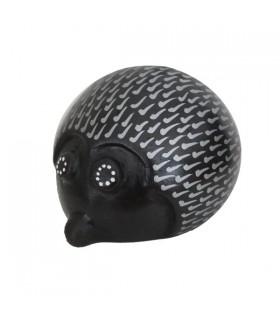 Hérisson décoratif Noir et Blanc 9 cm