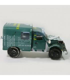 Voiture 2CV en métal recyclé Modèle camionnette.