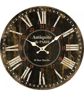 Horloge murale antiquités noire