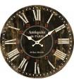 Horloge murale Antiquités de Paris noire