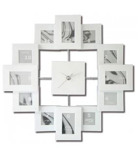 Horloge porte-photos blanche