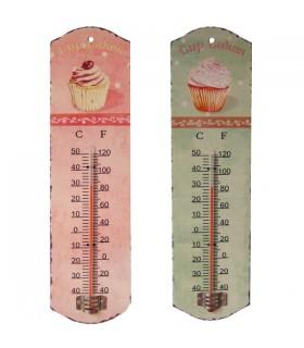 Thermomètre métal cupcake