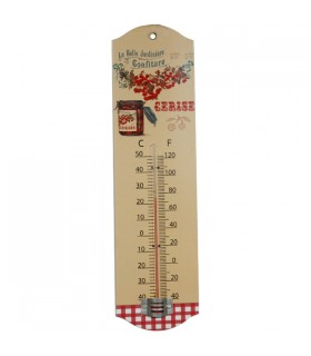 Thermomètre métal cerises