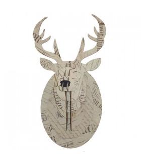 Trophée Cerf Naturel Calligraphie