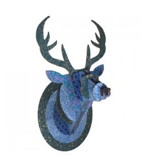 Trophée Cerf Bleu Pailleté